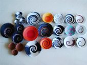 Telephone wire bowls, assorted colours and sizes