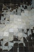 Cowhide rug, black and white