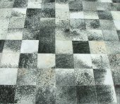"Cowhide rug, ""salt and pepper"""
