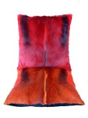 Springbok Cushions, red and orange