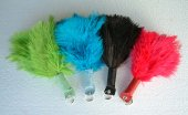 Ostrich Feather Keyrings