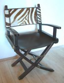 Directors Chair, leather and Zebra