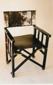 Safari Chair, leather and Nguni Cowhide