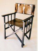 Safari Chair, leather and Springbok