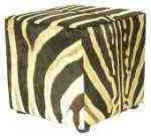 Zebra Cube Ottoman