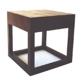 Lizzard leather print side table