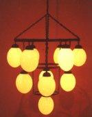 11 egg chandelier
